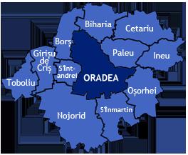 Zona Metropolitana Oradea - Oradea map